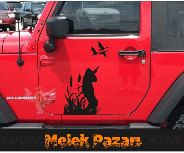 Ördek, Kaz Avcısı Hunter  oto Sticker