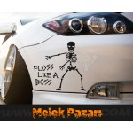 Floss Like A Boss İskelet Araba Sticker