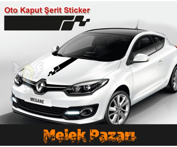 Araba Kaput Şerit Sticker