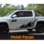 4X4 Off Road Dağ Sticker