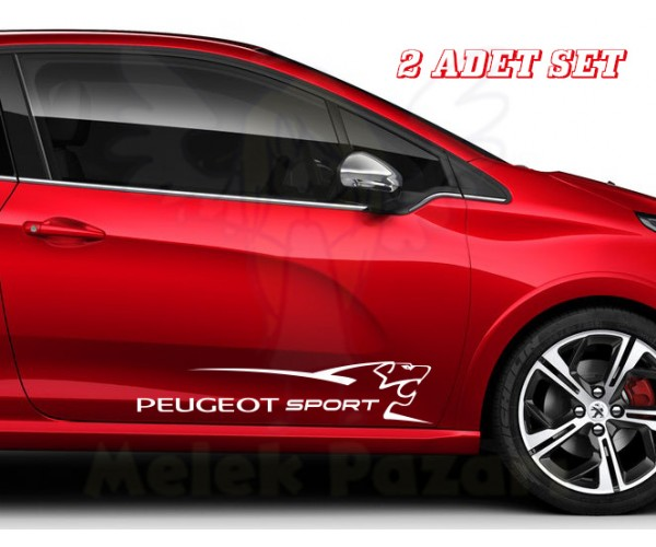Peugeot Sport Sağ-Sol Set Araba Sticker
