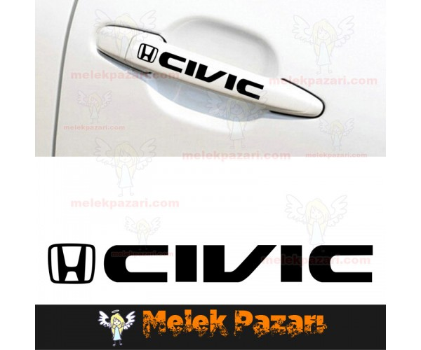 Honda Civic Kapı Kolu Jant Sticker. Araba Sticker