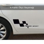 Megane Sport Sağ Sol Set Araba Sticker