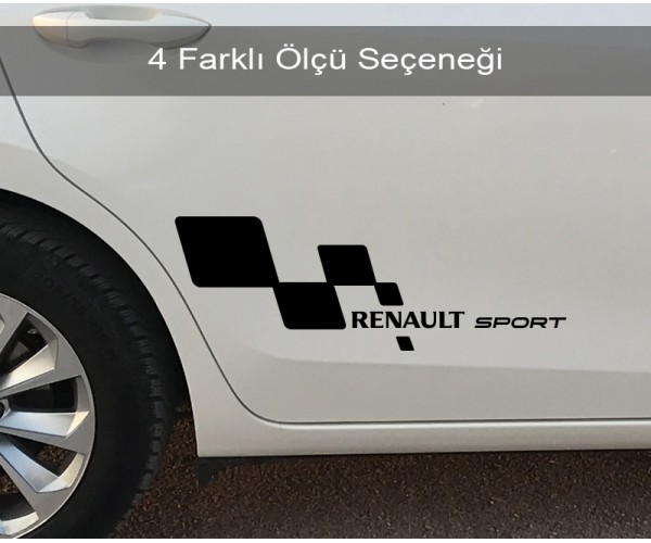Renault Sport Sağ Sol Set Araba Sticker