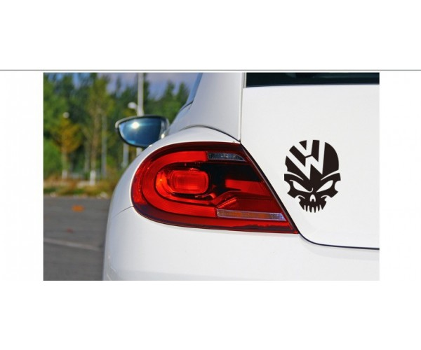 VW, Volkswagen Kuru Kafa Araba Sticker