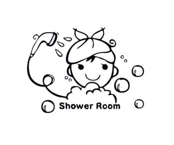 Shower Room Banyo Sticker