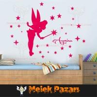 İsim Yazılabilir, Yıldız Perisi Çocuk Odası Duvar Sticker