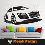 Audi Araba Duvar Sticker