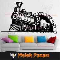 Buharlı Tren Duvar Sticker