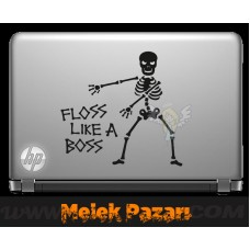 Floss Like A Boss İskelet Laptop Sticker