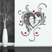 Kalp Özel Tasarım Duvar Sticker