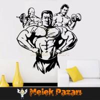 Vücut Geliştirme Spor Salonu Duvar Sticker