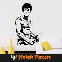 Bruce Lee Spor Salonu Duvar Sticker