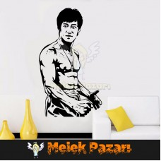 Bruce Lee Spor Salonu Duvar Sticker