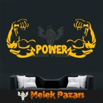 Power Spor Salonu Duvar Sticker