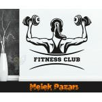 Fitness Club, Spor Salonu Duvar Sticker