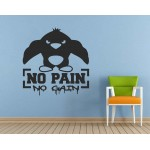 No Pain No Gain Spor Salonu Duvar Sticker