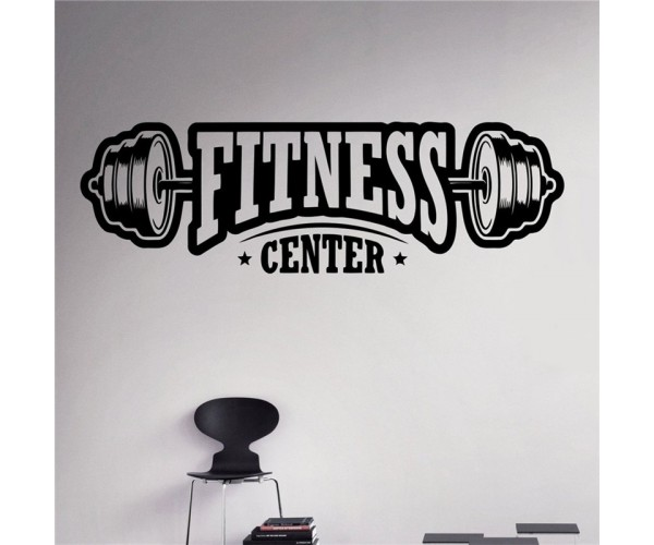 Halter Fitness Center Duvar, Cam Sticker