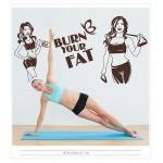 Burn Your Fat Fitnes, Spor Salonu Duvar Sticker