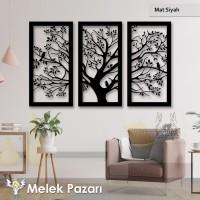 Ağaç ve Kuşlar Dekoratif Ahşap Tablo