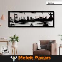 İstanbul Manzarası Dekoratif Ahşap Tablo