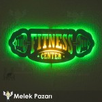 Fitness Center Led Işıklı Dekoratif Ahşap Tablo