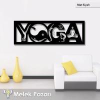 Yoga Fitness Spor Salonu Dekoratif Ahşap Tablo